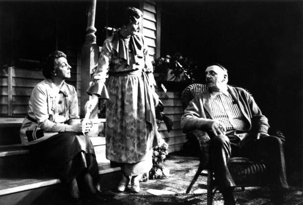 Evelyne Anderson, Nancy Drake and Frank Adamson in Mornings at Seven, directed by Steven Schipper, in 1988.