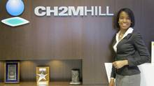 Shanel Thomas, a receptionist at CH2M Hill Canada Ltd., an engineering firm in Toronto, says the MicroSkills program gave her an opportunity when she needed it. (:Ëa)