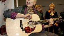 Singer/songwriter Joni Mitchell left a marriage that wasn't working to start her solo career. Seen here at a VIP gathering before the Canadian Songwriters Hall of Fame 4th Annual Gala on January 28, 2007. (J.P. MOCZULSKI for The Globe and Mail)
