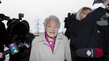 Mississauga Mayor Hazel McCallion, 92, arrives at the A. Grenville & William Davis Courthouse in Brampton to testify in a conflict of interest case. (Philip Cheung For The Globe and Mail)