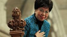 World Health Organization director-general Margaret Chan is recognized by MPs in the House of Commons on Nov. 21, 2011. (CHRIS WATTIE/REUTERS)