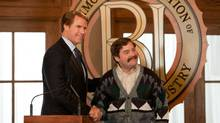 Will Ferrell as Cam Brady and Zach Galifianakis as Marty Huggins in The Campaign. (PATTI PERRET/Warner Bros.)