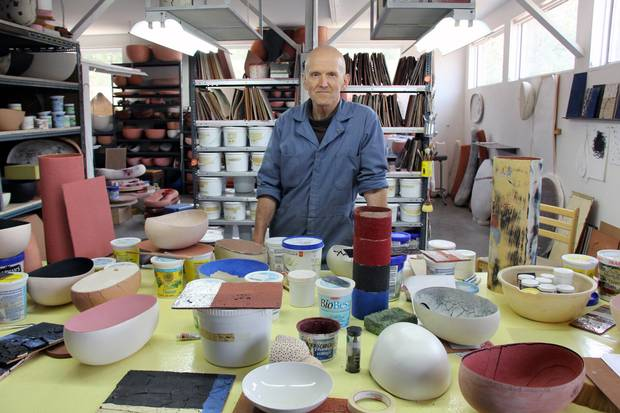 Steven Heinemann in his studio.