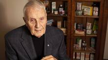 Frank Buckley, of Buckley's Cough Syrup, is the newest inductee to the Marketing Hall of Legends. (Moe Doiron/Moe Doiron/The Globe and Mail)