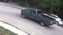 Calgary police are looking for the driver of a green Ford truck as part of the investigation tied to the suspicious disappearance of a five-year-old and his grandparents. The truck is a Ford 150, made in the late 1980s or early 1990s, the Calgary Police Service said in a statement Friday. (CALGARY POLICE)