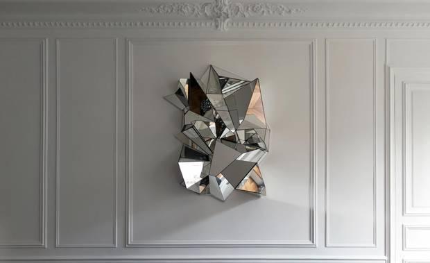 Mathias Kiss's iconic Miroir Froissé (creased mirror)
