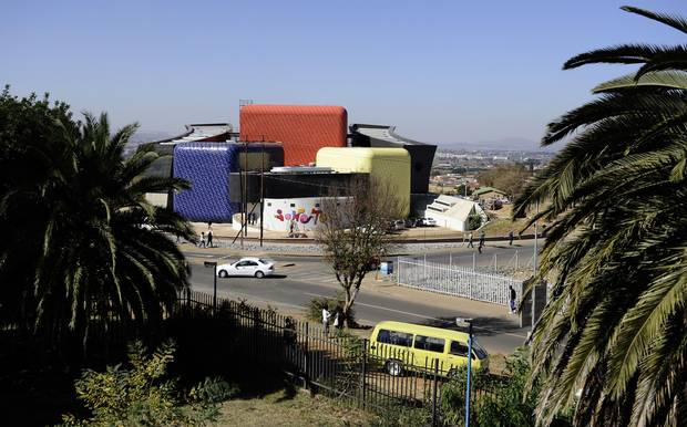 The Soweto Theatre is pictured. Thanks in part to tourism, there is an emerging middle class and even a wealthy elite in this township, which was never intended to have a functioning economy when it was constructed by the apartheid state to provide cheap black labour for white-controlled industry.