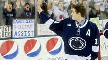 Penn State assistant captain David Glen is decided to donate after getting a call from the Be The Match program. (Abby Drey/CDT photo)