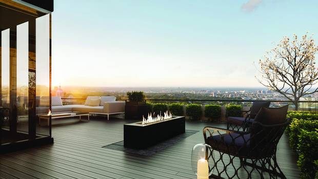 Some units will have rooftop terraces looking over the northern part of the city.