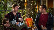 Chris Pratt, left, and Vince Vaughn in a scene from Delivery Man. (Jessica Miglio/AP/Disney-DreamWorks)