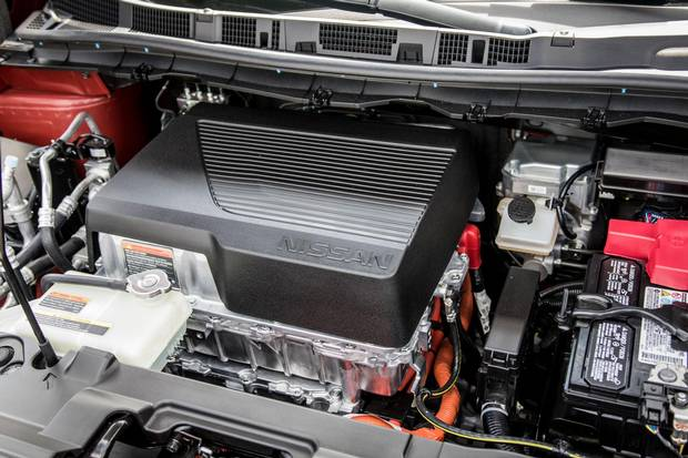 A 40-kW battery powers the 2018 Nissan Leaf.