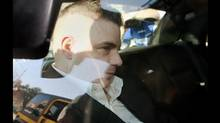 Michael Rafferty is transported from the courthouse in the back of police cruiser in London, Ontario, Wednesday, March, 14, 2012. (Dave Chidley/THE CANADIAN PRESS/Dave Chidley/THE CANADIAN PRESS)
