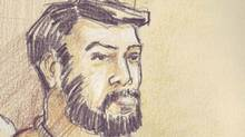 Misbahuddin Ahmed (Courtroom sketch by Dave Clendinin)