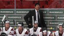 Ted Nolan, coaching the Latvian team last year, won the 1997 Jack Adams Trophy as the NHL's coach of the year. (PETR JOSEK/REUTERS)