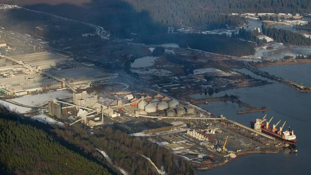 Rio Tinto Alcan's smelter is the proposed termination point for Enbridge's Northern Gateway pipeline in Kitimat, B.C.