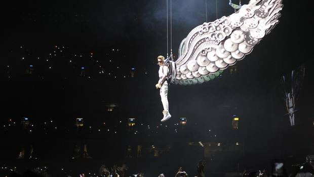 Justin Bieber performs at the rogers Centre in Toronto, December 1, 2012. (J.P. Moczulski for The Globe and Mail)