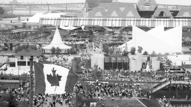 View of Expo '67 in Montreal on July 3, 1967.