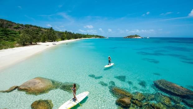 Paddleboarding at Lizard Island.