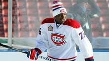 P.K. Subban of the Montreal Canadiens skates during a practice session the day before the 2011 NHL Heritage Classic at McMahon Stadium on Saturday in Calgary. (Andre Ringuette/2011 Getty Images)