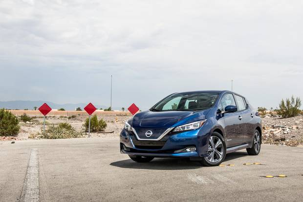 The new battery in the 2018 Nissan Leaf boosts the vehicle's range to around 240 kilometres.