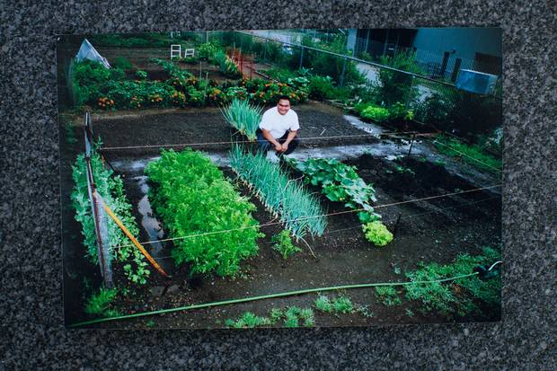 Phillip Tallio in his garden. Professing his innocence has cost Mr. Tallio additional prison privileges like visiting his dying grandmother or moving to minimum security.