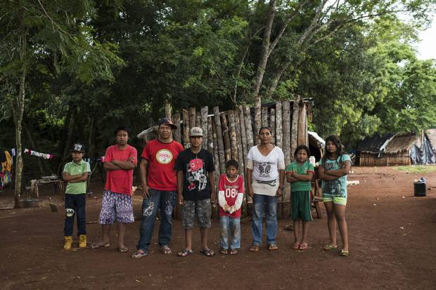 Genito Gomes, second from right, and members of the Gomes and Flores families are shown in Guaiviry.