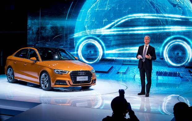 Rupert Stadler, chairman of Audi AG, during the presentation of the new A3 40 TFSI.