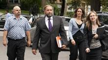 Quebec NDP MP Thomas Mulcair arrives at McGill University on Aug. 30, 2011, in Montreal. Mr. Mulcair said he hasn't decided whether to run for the party leadership. (Ryan Remiorz/THE CANADIAN PRESS/Ryan Remiorz/THE CANADIAN PRESS)