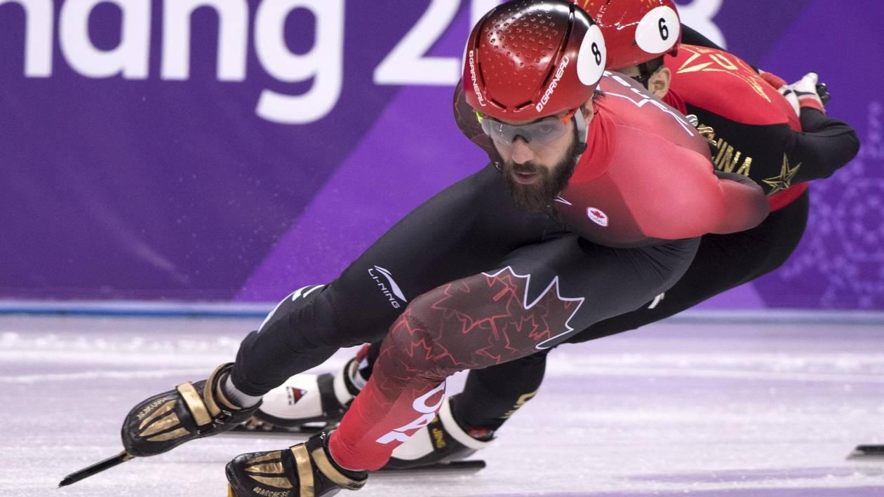 Canadian speedskater Charles Hamelin.