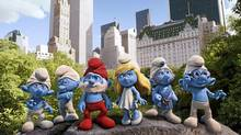 A group shot from the Smurfs movie. (Sony Pictures)