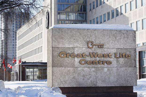 The Great-West Life headquarters are shown in Winnipeg in 2013.