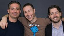 Spin Master's founders, from left, Anton Rabie, Ben Varadi, and Ronnen Harary (COURTESY OF SPIN MASTER LTD.)