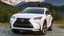 The Lexus NX, an all-new, upscale compact SUV, should be in showrooms in a few months. (Toyota)