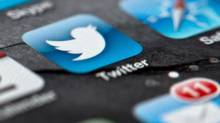A smartphone display shows the Twitter logo (Soeren Stache/AP)
