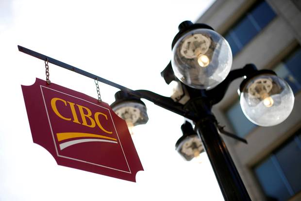 A CIBC sign is seen outside of an Ottawa branch in 2016.