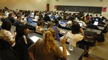 Students fill a lecture hall at York University. (Fred Lum/The Globe and Mail/Fred Lum/The Globe and Mail)