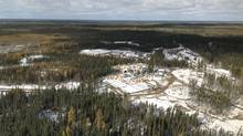 Two mining exploration camps are pictured in the proposed Ring of Fire development area, approximately 500 kilometres northeast of Thunder Bay, Ontario in this undated handout photo obtained by Reuters March 28, 2013. (HANDOUT/REUTERS)