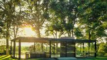 Philip Johnson's Gl;ass House in New Canaan, Conn. (Stornoway Productions)