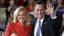 Republican presidential candidate, Mitt Romney, and his wife Ann celebrates his Florida primary election win at the Tampa Convention Center in Tampa, Fla., Jan. 31, 2012. (Charles Dharapak/AP/Charles Dharapak/AP)
