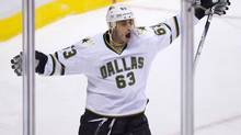 Dallas Stars' Mike Ribeiro celebrates after scoring the team's second goal against the Vancouver Canucks during the second period of an NHL game in Vancouver, B.C., on Tuesday March 6, 2012. (DARRYL DYCK/THE CANADIAN PRESS)