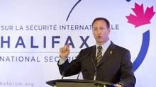 Defence Minister Peter MacKay fields questions at the end of the Halifax International Security Forum in Halifax, Nov. 18, 2012. (Andrew Vaughan/THE CANADIAN PRESS)
