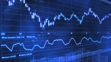 Stock Market Chart on Blue Background (Ash Waechter/Getty Images/iStockphoto)