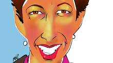 Illustration of Karen Sheriff, president and CEO of Bell Aliant. (Anthony Jenkins/The Globe and Mail/Anthony Jenkins/The Globe and Mail)