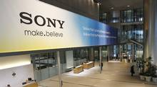 The main lobby of the headquarters of Sony Corp. in Tokyo. (Koji Sasahara/Koji Sasahara/Associated Press)