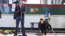 A scene from Men with Brooms, a new TV show on CBC (Allen Fraser/Handout)