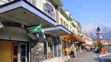 Shops in downtown Banff, Alta. (Jeff Whyte/iStockphoto)