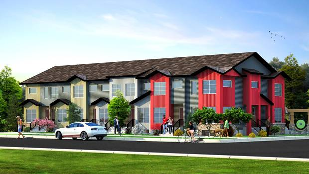 A rendering of Avalon Masterbuilder's 56-unit townhouse development called Zen Redstone in Calgary.