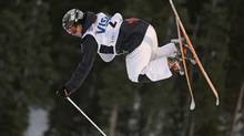 Alex Bilodeau, of Canada, competes during the men's freestyle World Cup moguls event Saturday, Jan. 11, 2014, in Park City, Utah. (Rick Bowmer/AP)