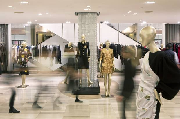 The interior of the Saks Fifth Avenue flagship store in New York City.