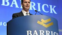 Former Barrick Gold Corp. CEO Aaron Regent speaks during the company's annual general meeting of shareholders in Toronto on May 2, 2012. (MIKE CASSESE/REUTERS)